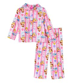 Disney Princess® Girls' 2T-4T 2-Piece Allover Princesses Pajama Set