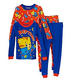 Komar Kids Boys' 2T-4T 4-Piece Daniel Tiger Pajama Set