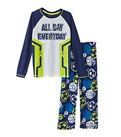 Komar Kids® Boys' 4-14 2-Piece All Day Every Day Pajama Set