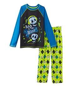 Komar Kids® Boys' 4-16 2-Piece Bad To The Bone Pajama Set