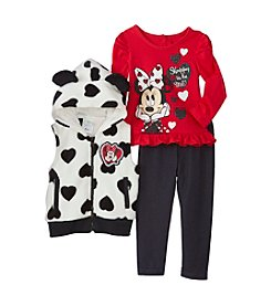 Disney® Baby Girls' 3-Piece Minnie Vest Set