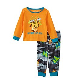 Komar Kids® Boys' 2T-4T 2-Piece Outdoor Explorer Pajama Set