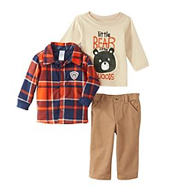 Nannette® Baby Boys 3-Piece Plaid Little Bear Set