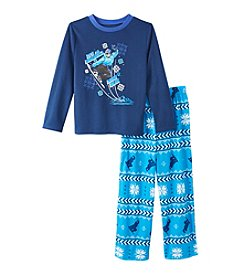 Komar Kids® Boys' 4-14 2-Piece Snowboarding Pajama Set