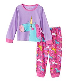 Komar Kids® Girls' 2T-4T 2-Piece Unicorn Pajama Set