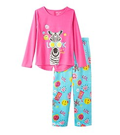 Komar Kids® Girls' 4-16 2-Piece Look At Me Pajama Set