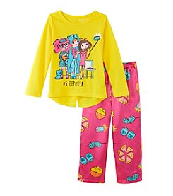 Komar Kids® Girls' 4-16 2-Piece #Sleepover Pajama Set