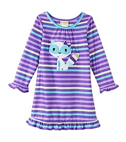 Komar Kids® Girls' 2T-4T Striped Raccoon Nightgown