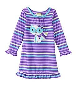 Komar Kids® Girls' 2T-4T Striped Raccoon Nightgown