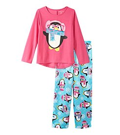 Komar Kids® Girls' 4-16 2-Piece Penguin Pajama Set