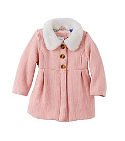 Carter's® Baby Girls' Faux Fur Collar Dress Coat