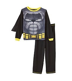 Batman® Boys' 2T-14 2-Piece Batman Cape Pajama Set