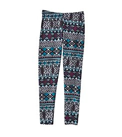 Miss Attitude Girls' 7-16 Fairisle Leggings