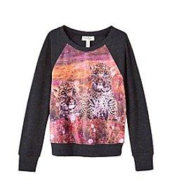 Jessica Simpson Girls' 7-16 Ariel Leopard Sweatshirt
