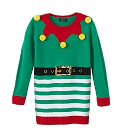 It's Our Time® Girls' 7-16 Elf Striped Tunic Sweater