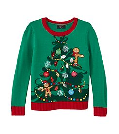 It's Our Time® Girls' 7-16 Christmas Tree Sweater