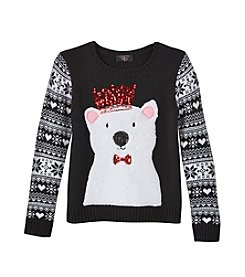 It's Our Time® Girls' 7-16 Queen Polar Bear Sweater