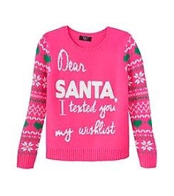 It's Our Time® Girls' 7-16 Dear Santa Sweater