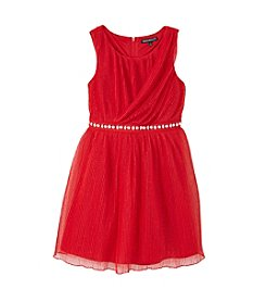 Sequin Hearts® Girls' 7-16 Jewel Belted Crossover Dress