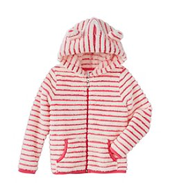 Mix & Match Girls' 2T-6X Striped Fuzzy Hoodie