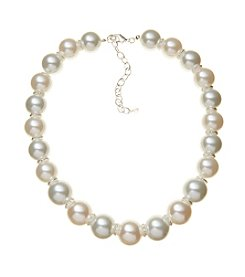 Napier Pearl Collar Necklace