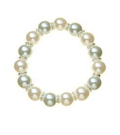 Napier® Simulated Pearl Large Stretch Bracelet