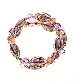 Napier® Two Row Beaded Stretch Bracelet