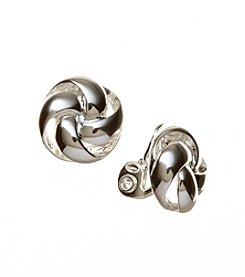 Napier® Button Knot Clip Earrings