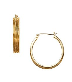 Napier® Medium Snake Chain Hoop Earrings