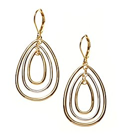 Napier® Large Teardrop Orbital Earrings