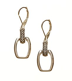 Napier® Antiqued Leverback Drop Earrings