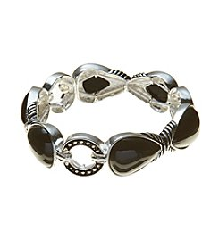 Napier® Black Teardrop Stretch Bracelet