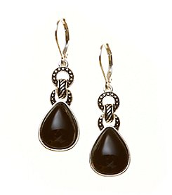 Napier Double Drop Leverback Earrings