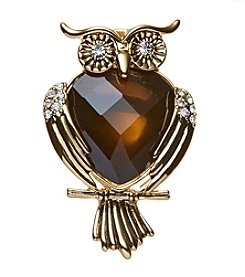 Napier Boxed Owl Pin