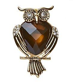 Napier Boxed Owl Pin