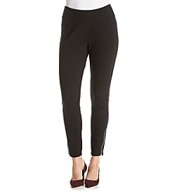 Relativity® Ponte Leggings With Zip Hem