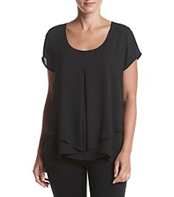 Relativity® Invert Pleat Layered Blouse