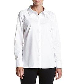 Relativity® Cotton Pintuck Tunic With Yoke