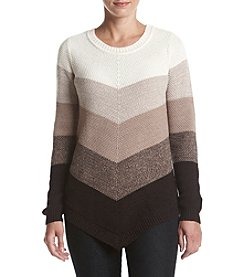 AGB® Chevron Print Sweater