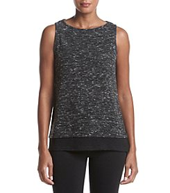 Jones New York® Mix Media Wide Crew Tank