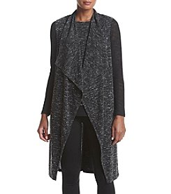 Jones New York® Drape Front Mix Media Duster