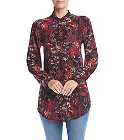 Cupio Abstract Print Top