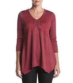 Oneworld® Henley Sweater Top