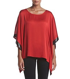 AGB® Sequin Detail Poncho