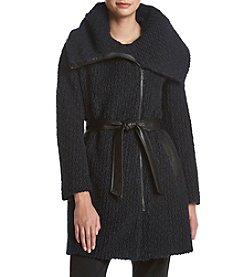 Cole Haan® Belted Asymmetrical Coat