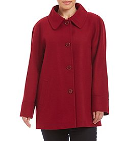 Forecaster Plus Size A-Line Raglan Coat