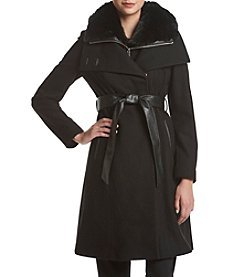 French Connection Belted Funnel Neck Coat