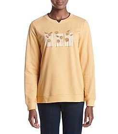 Breckenridge® Dandelion Patch Fleece Crew Neck Pullover