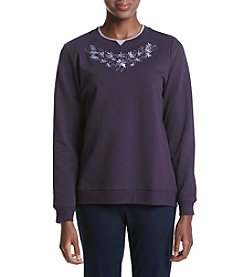 Breckenridge® Lovely Scoop Fleece Crew Neck Pullover