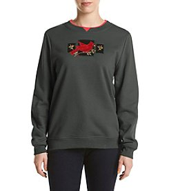 Breckenridge® Petites' Elegance In Red Embellished Fleece
